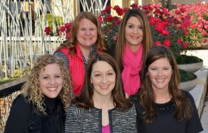 2016 Sugar Plum Market Co-Chairs Front Row (L-R):  Alison Haralson, Sherri Ebarb, and Katie Harris. Back Row (L-R):  Monica Henderson and Danielle Hames.