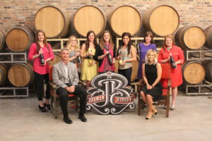 Front Row: Braman Winery CEO Greg Deeb and Braman Winery Brand Representative Emily Kunkle. Back Row: SPM Co-Chair Danielle Hames; SPM Bar Committee Members Laura McGowen, Jaynee Tierce, Michaela Brady, Tiffany Medina, Danielle Noonan; and SPM Co-Chair Monica Henderson.