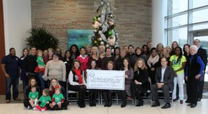 Representatives of the organizations receiving proceeds from the 2016 Sugar Plum Market joined members of FBJSL and representatives of Memorial Hermann on December 9th to celebrate the Market's success.
