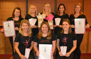 (Left to Right) : Front Row: Susanne Hiegel, Stephanie Reilly, and Michaela Brady. Back Row: Ashley Willis, Angela Parker, Jenna Kisner, Parita Kurian, and LeAnne Lundy.